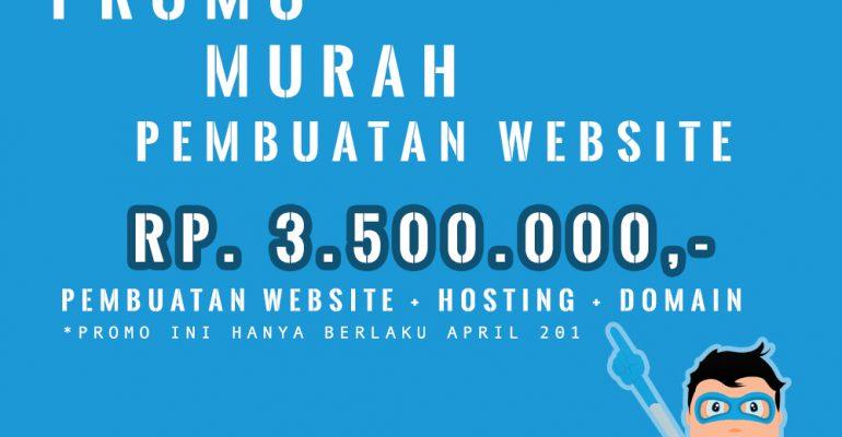 Promo Paket Pembuatan website murah MANTAP! AprilBOOM!!!